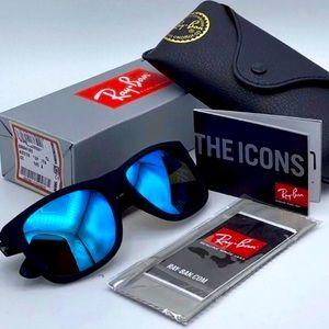 Ray-Ban Justin 4165 Black Blue Sunglasses Wayfarer